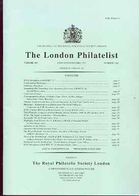 Literature - London Philatelist Vol 106 Number 1242 dated Jan-Feb 1997 - with articles relating to Great Britain KG5 Specimens, Albania & Mauritius