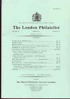 Literature - London Philatelist Vol 106 Number 1243 dated March 1997 - with articles relating to Mails to & from Latin America