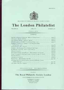 Literature - London Philatelist Vol 106 Number 1244 dated April 1997 - with articles relating to Germany