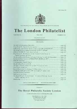 Literature - London Philatelist Vol 106 Number 1245 dated May 1997 - with articles relating to Papua New Guinea, Great Britain Downey Heads, Machins & France