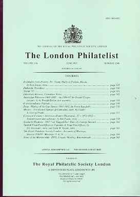 Literature - London Philatelist Vol 106 Number 1246 dated June 1997 - with articles relating to Perkins Bacon, Australia, Peru, Mexico, Southern Rhodesia & Turkish POs in...