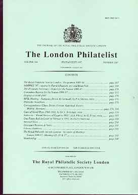 Literature - London Philatelist Vol 106 Number 1247 dated July-Aug 1997 - with articles relating to Cape of Good Hope & Egypt