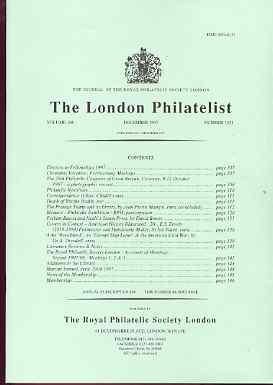 Literature - London Philatelist Vol 106 Number 1251 dated December 1997 - with articles relating to Errors, Perkins Bacon & Cape of Good Hope