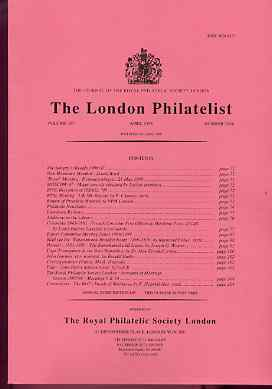 Literature - London Philatelist Vol 107 Number 1254 dated April 1998 - with articles relating to Colombia, Mail Via Brindisi, Hawaii & Cape of Good Hope