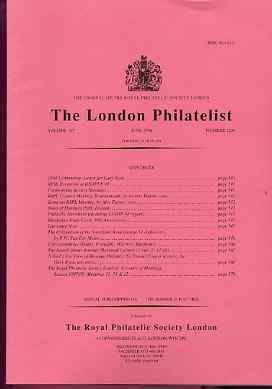 Literature - London Philatelist Vol 107 Number 1256 dated June 1998 - with articles relating to Swaziland & Revenues