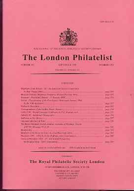 Literature - London Philatelist Vol 107 Number 1258 dated September 1998 - with articles relating to Serbia, Rhodesia & Palestine
