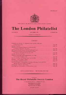 Literature - London Philatelist Vol 107 Number 1260 dated November 1998 - with articles relating to Syria Forgeries, Thailand & Czechoslovakia