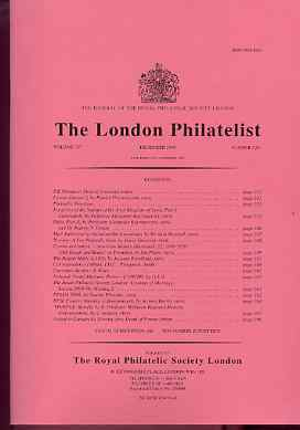Literature - London Philatelist Vol 107 Number 1261 dated December 1998 - with articles relating to Syria Forgeries, Stellaland & Norway