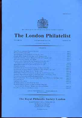 Literature - London Philatelist Vol 108 Number 1262 dated Jan-Feb 1999 - with articles relating to Sperati, Syria Forgeries, Guernsey & Mauritius
