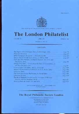 Literature - London Philatelist Vol 108 Number 1264 dated April 1999 - with articles relating to Orange Free State, stamps on
