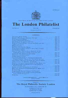 Literature - London Philatelist Vol 108 Number 1265 dated May 1999 - with articles relating to Great Britain KG5 (The Royal Collection), Great Britain Postage Dues & Turkey used in Tripoli