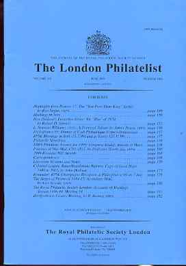 Literature - London Philatelist Vol 108 Number 1266 dated June 1999 - with articles relating to New Zealand, Cape of Good Hope & Przemysl