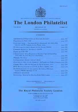 Literature - London Philatelist Vol 108 Number 1267 dated Jul-Aug 1999 - with articles relating to Cape of Good Hope & Canada