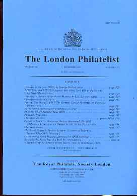 Literature - London Philatelist Vol 108 Number 1271 dated December 1999 - with articles relating to Hungary & France (Note the Sir Edward Bacon Supplement is NOT included)