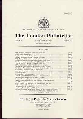 Literature - London Philatelist Vol 109 Number 1272 dated Jan-Feb 2000 - with articles relating to Canada (The Royal Collection), Norway & Greece