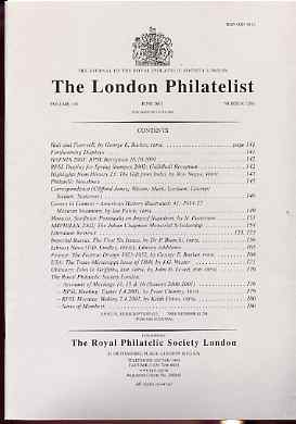 Literature - London Philatelist Vol 110 Number 1286 dated June 2001 - with articles relating to USA Trans-Mississippi, France & Russia