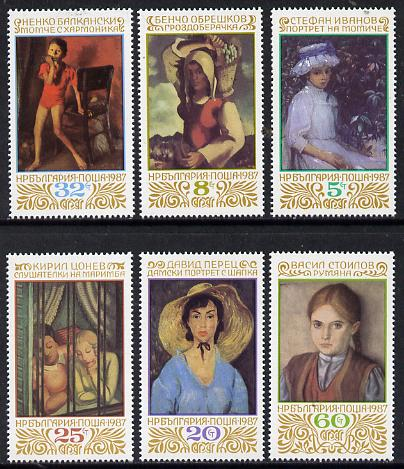 Bulgaria 1987 Paintings in Sofia National Gallery set of 6, Mi 3598-3603