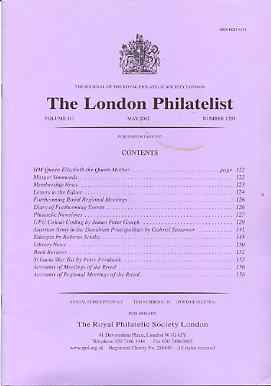 Literature - London Philatelist Vol 110 Number 1295 dated May 2002 - with articles relating to UPU Colours, Austrian Army, Ethiopia & St Lucia