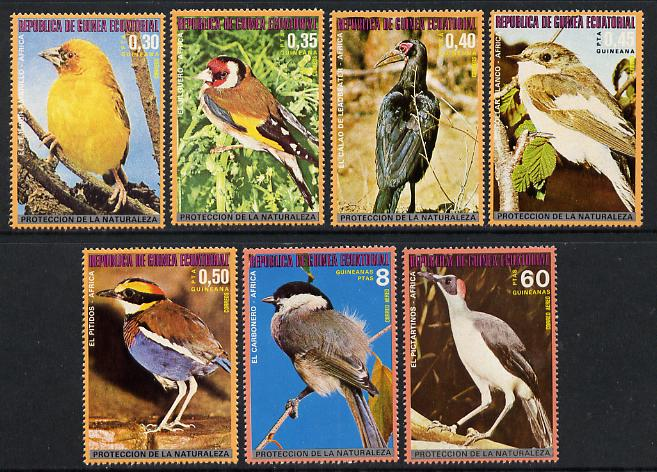 Equatorial Guinea 1976 African Birds perf set of 7 unmounted mint, Mi 989-995A