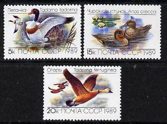 Russia 1989 Ducks (1st issue) set of 3 unmounted mint, SG 6011-13, Mi 5965-67*