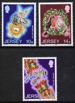 Jersey 1986 Christmas - International Year of Peace set of 3 unmounted mint, SG 402-04
