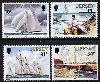 Jersey 1987 Racing Schooner Westward set of 4 unmounted mint, SG 405-08