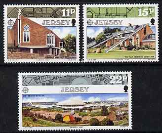 Jersey 1987 Europa - Modern Architecture set of 3 unmounted mint, SG 414-16