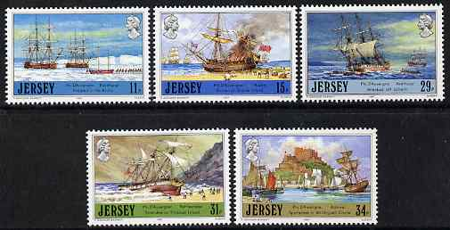 Jersey 1987 Jersey Adventurers (2nd Series) Philippe D'Auvergne set of 5 unmounted mint, SG 417-21