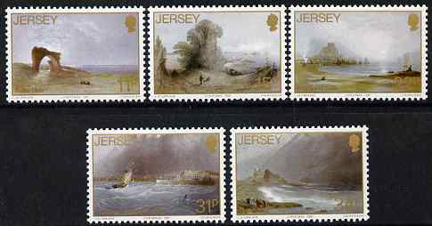 Jersey 1987 Christmas - paintings by John le Capelain set of 5 unmounted mint, SG 428-32