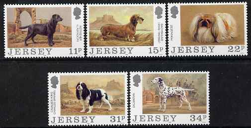 Jersey 1988 Centenary of Jersey Dog Club set of 5 unmounted mint, SG 428-32