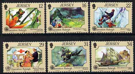 Jersey 1988 Operation Raleigh set of 6 unmounted mint, SG 452-57