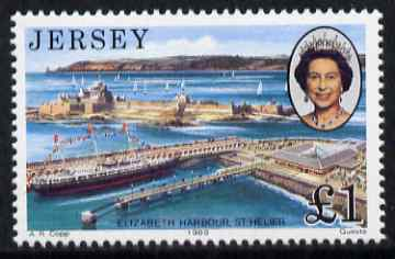 Jersey 1989 Royal Visit �1 unmounted mint, SG 500