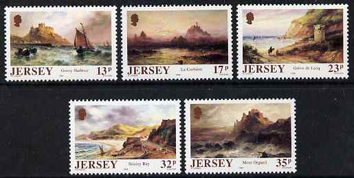 Jersey 1989 150th Birth Anniversary of Sarah Louisa Kilpack (artist) set of 5 unmounted mint, SG 512-16