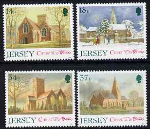 Jersey 1990 Christmas - Jersey Parish churches (2nd series) set of 4 unmounted mint, SG 535-38