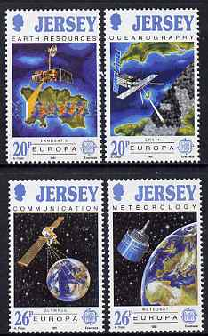 Jersey 1991 Europa- Europe in Space set of 4 unmounted mint, SG 545-48