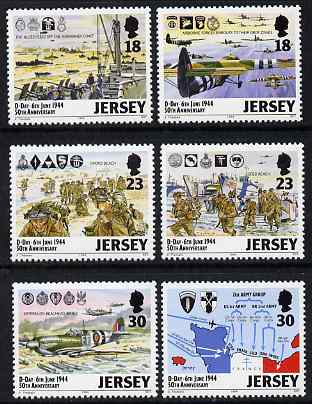 Jersey 1994 50th Anniversary of D-Day set of 6 unmounted mint, SG 659-64