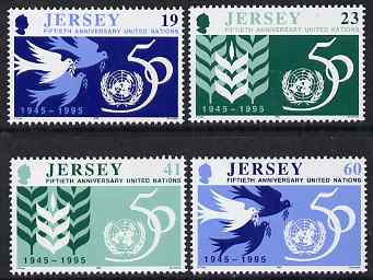 Jersey 1995 50th Anniversary of United Nations set of 4 unmounted mint, SG 723-26