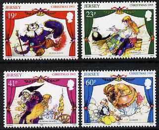 Jersey 1995 Christmas Pantomimes set of 4 unmounted mint, SG 727-30