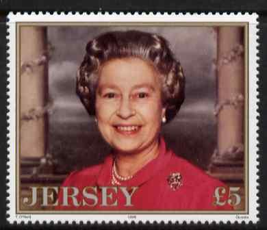 Jersey 1996 70th Birthday Queen Elizabeth II \A35 unmounted mint, SG 738