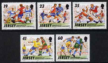 Jersey 1996 European Football Championships set of 5 unmounted mint, SG 741-45
