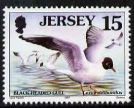 Jersey 1997-99 Seabirds & Waders 15p Black-headed Gull unmounted mint SG 779
