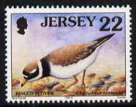 Jersey 1997-99 Seabirds & Waders 22p Ringed Plover unmounted mint SG 782