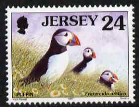 Jersey 1997-99 Seabirds & Waders 24p Atlantic Puffin unmounted mint SG 784