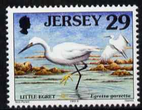 Jersey 1997-99 Seabirds & Waders 29p Little Egret unmounted mint SG 789