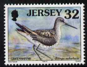 Jersey 1997-99 Seabirds & Waders 32p Common Greenshank unmounted mint SG 792