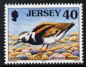 Jersey 1997-99 Seabirds & Waders 40p Ruddy Turnstone 40p unmounted mint SG 797