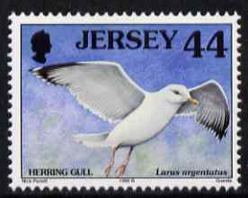Jersey 1997-99 Seabirds & Waders 44p Herring Gull unmounted mint SG 798, stamps on birds