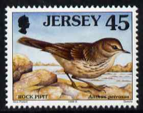 Jersey 1997-99 Seabirds & Waders 45p Rock Pipit unmounted mint SG 799