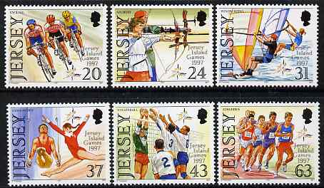 Jersey 1997 7th Jersey Island Games set of 6 unmounted mint SG 818-23
