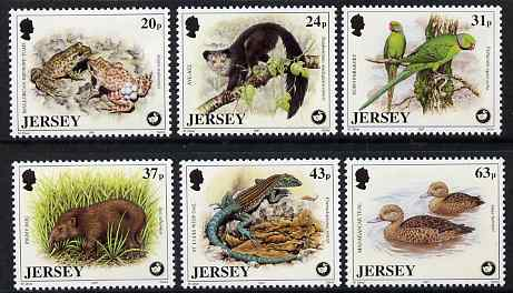Jersey 1997 Wildlife Preservation Trust (6th series) set of 6 unmounted mint SG 824-29